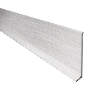 Designbase-SL Aluminum with Brushed Stainless Steel Appearance 3-1/8 in. x 8 ft. 2-1/2 in. Metal Tile Edge Trim