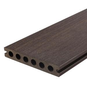 UltraShield Natural Voyager Series 1 in. x 6 in. x 8 ft. Spanish Walnut Hollow Composite Decking Board (10-Pack)