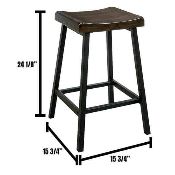 William S Home Furnishing Lainey Industrial Style Black Counter Stool Chair 2 Pack Cm3415pc 2pk The Home Depot