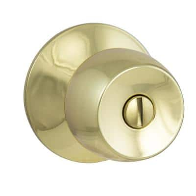 Brandywine Polished Brass Bed/Bath Privacy Door Knob