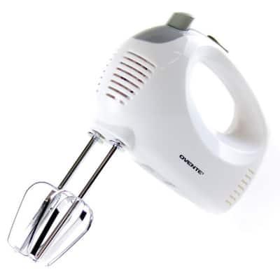 5-Speed Ultra Power Hand Mixer with Free Storage Case, White
