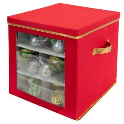 12 Gal. 27-Count Large Ornament Storage Box with See Through Window