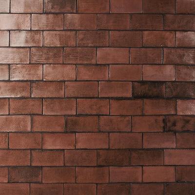 Orion Copper 4 in. x 8 in. Handmade Glazed Ceramic Wall Tile (10.76 sq. ft. / Case)