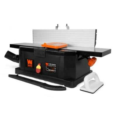 10 Amp 6 in. Corded Benchtop Joiner with Filter Bag and Depth Scale