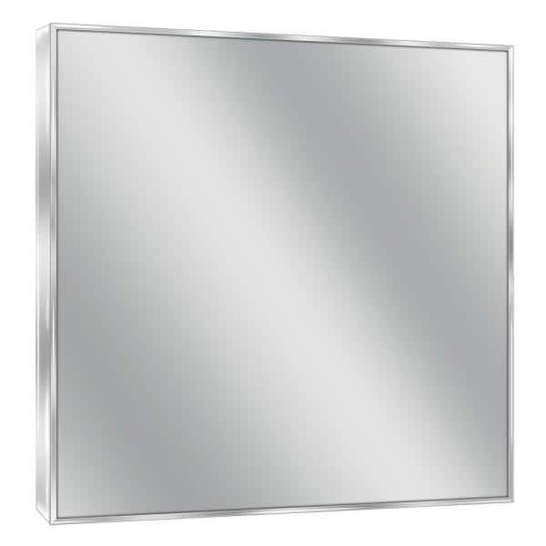 Deco Mirror 30 In W X 36 In H Framed Rectangular Bathroom Vanity Mirror In Bright Chrome 8431 The Home Depot