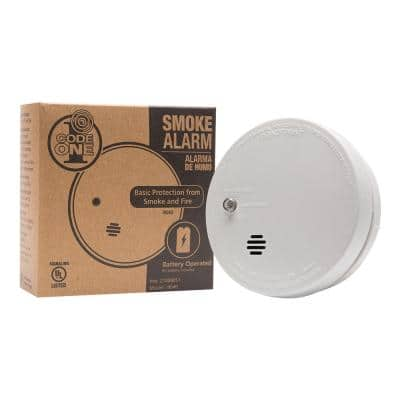 Code One Smoke Detector, Battery Powered with Ionization Sensor, Smoke Alarm