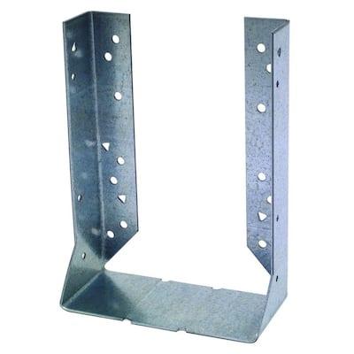 HUC Galvanized Face-Mount Concealed-Flange Joist Hanger for 6x10 Nominal Lumber