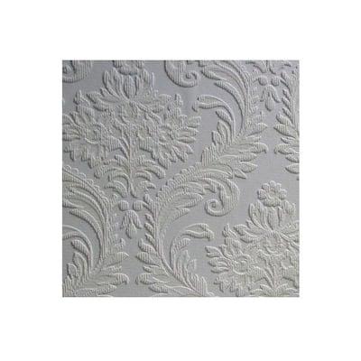High Trad Paintable Textured Vinyl White & Off-White Wallpaper Sample