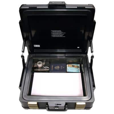 0.39 cu. ft. Molded Fire Resistant and Waterproof Legal Document Storage Chest with Key and Double Latch Lock