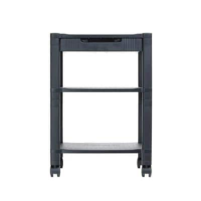 Classify 3- Shelf Mobile Printer Cart in Black