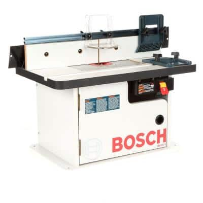 25-1/2 in. x 15-7/8 in. Benchtop Laminated MDF Top Cabinet Style Router Table with 2 Dust Collection Ports