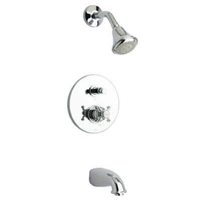 Ornellaia Single-Handle 1-Spray Tub and Shower Faucet in Chrome (Valve Included)