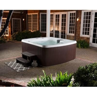 LS500 5-Person 23-Jet 110v Plug and Play Spa with Thermal Locking Cover
