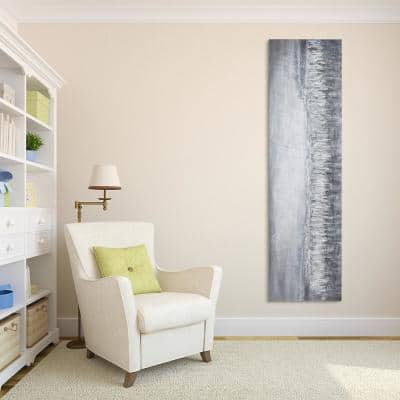 """""""Silver Dust"""" Textured Metallic Hand Painted by Martin Edwards Abstract Canvas Wall Art"""