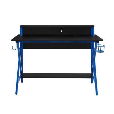 Blake Blue Gaming Desk with LED Lighting
