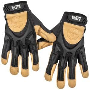Leather Work Gloves, X-Large, Pair