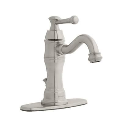 Warnick Single Hole Single-Handle Bathroom Faucet in Brushed Nickel