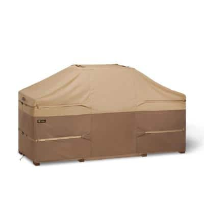Veranda's Best 86 in. x 42 in. x 48 in. Polyester with Polyvinyl chloride backing Island Grill Cover