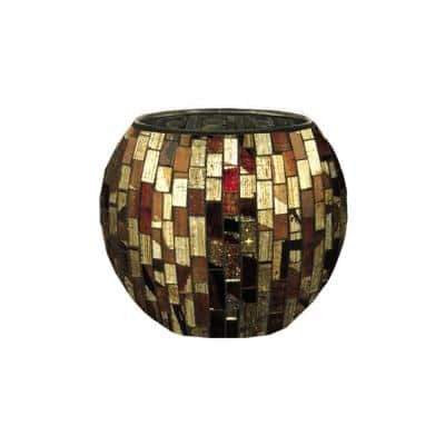 9.25 in. Dormia 4-Piece Mosaic Candle Holder Set
