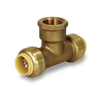 1/2 in. Push to Connect Push x Female Tee Pipe Fitting for Pex, Copper and CPVC Piping