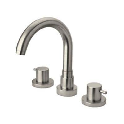 Elba Lever 2-Handle Free-Standing Roman Tub Faucet in Brushed Nickel