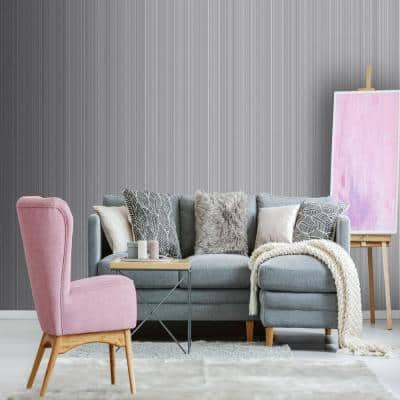 Palma Grey/Pink Wallpaper Sample
