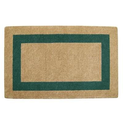 Single Picture Frame Green 30 in. x 48 in. Coir Door Mat