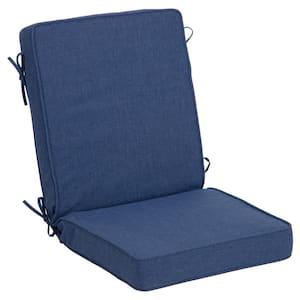 21 in. x 24 in. Oceantex Deep Marine Outdoor High Back Dining Chair Cushion