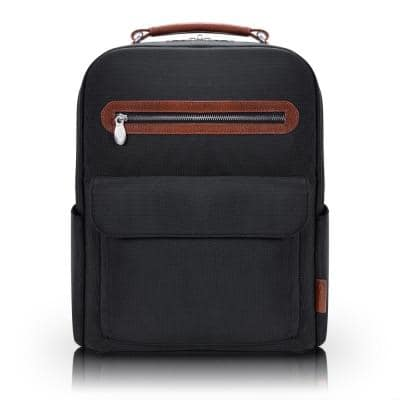 Mcklein Logan, 17 in. 2-Tone, Dual-Compartment, Laptop and Tablet Backpack, Black (79085)