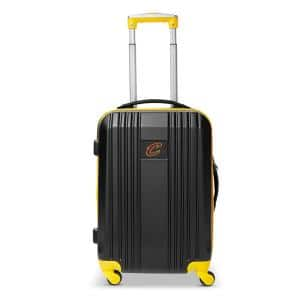 NBA Cleveland Cavaliers 21 in. Hardcase 2-Tone Luggage Carry-On Spinner Suitcase