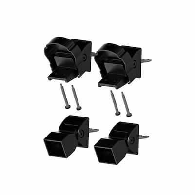 VersaRail Cambridge Matte Black Aluminum Top Stair Bracket Kit