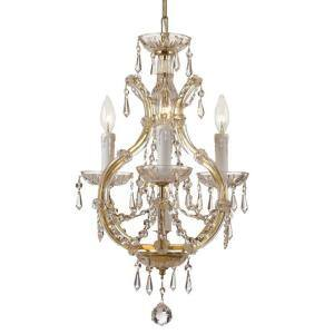 Maria Theresa 4-Light Gold Crystal Chandelier