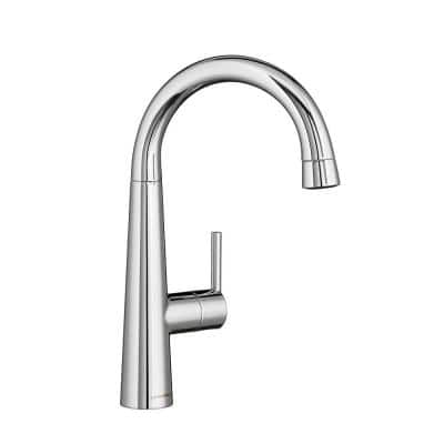 Edgewater Single-Handle Pull-Down Bar Faucet in Polished Chrome