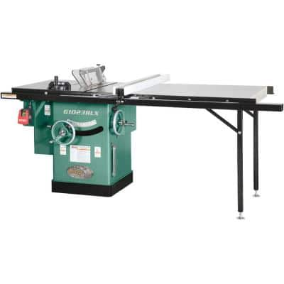 10 in. 3 HP 240-Volt Cabinet Left-Tilting Table Saw with Extension Table