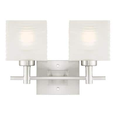 Alexander 2-Light Brushed Nickel Wall Mount Bath Light