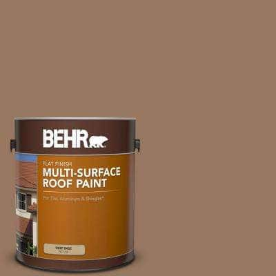 1 gal. #MS-18 Clay Brown Flat Multi-Surface Exterior Roof Paint