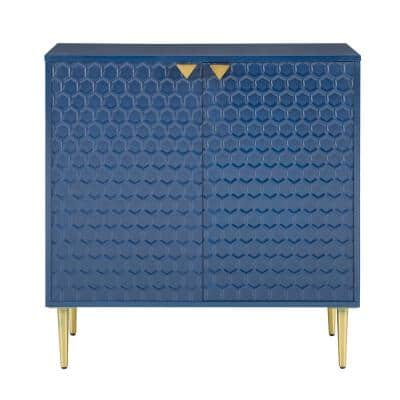 30 36 Wood Blue Office Storage Cabinets Home Office Furniture The Home Depot