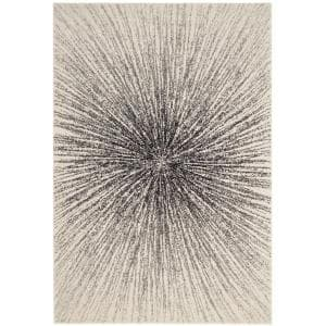 Evoke Black/Ivory 5 ft. x 8 ft. Area Rug