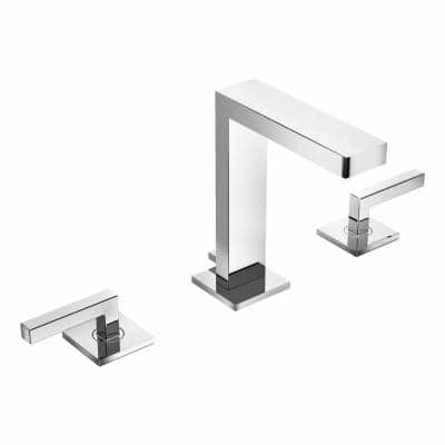 Duro 8 in. Widespread 2-Handle Bathroom Faucet in Polished Chrome