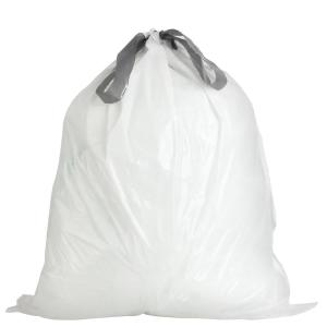24.4 in. x 28 in. 10 Gal./38 l White Drawstring Garbage Liners simplehuman®* Code K Compatible (50-Count)