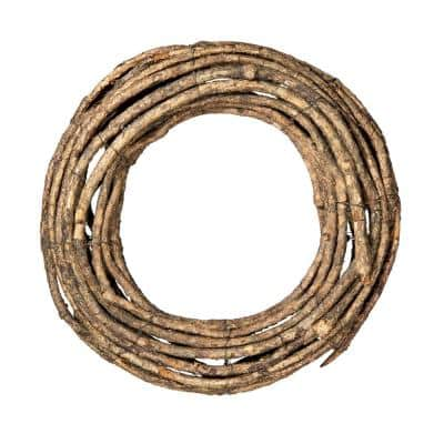 16 in. x 3.5 in. D Grapevine Wreath, Brown (2-Pack)