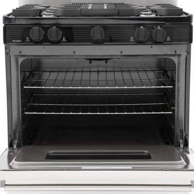 ProSeries 30 in. 3.91 cu. ft. Battery Spark Ignition Gas Range in Stainless Steel