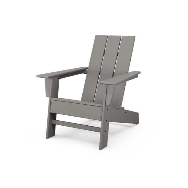 Polywood Grant Park Slate Grey Modern, Plastic Feet For Outdoor Furniture Home Depot