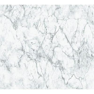 Strippable Makrana Grey Marble Wallpaper