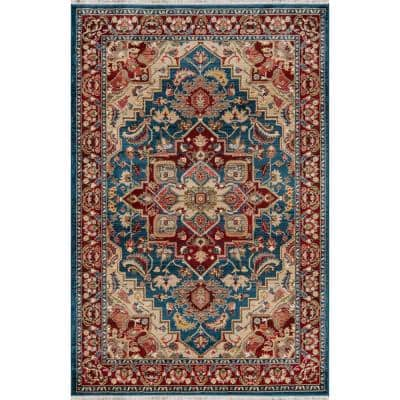 Lenox Blue 9 ft. 6 in. X 12 ft. 6 in. Indoor Area Rug