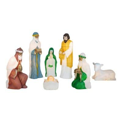 Nativity Blow Mold Set with C7 Light (7-Piece)
