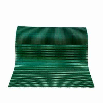 Barepath Forest Green 2 ft. x 30 ft. PVC Safety and Comfort Rug Runner