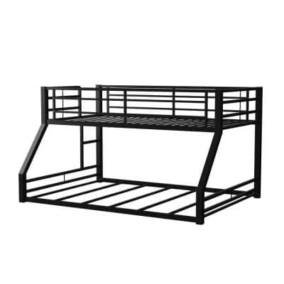 Bowry Sand Black Twin Over Full Bunk Bed