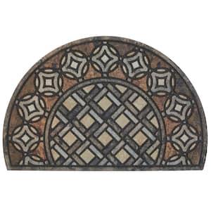 Deco Tile Slice Brown 23 in. x 35 in. Doorscapes Estate Mat