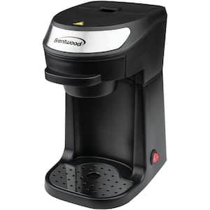 1-Cup Black Single-Serve Coffee Maker with Mug